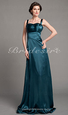 Imperium Stretch Sateng Gulvlengde Spaghetti Snorer Bridesmaid/ Wedding Party Kjole